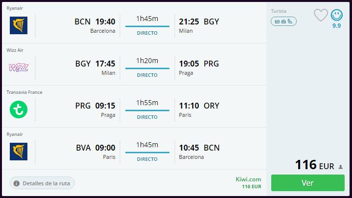 Super tour mil n praga paris vuelos hoteles 266 for Vuelos barcelona paris low cost