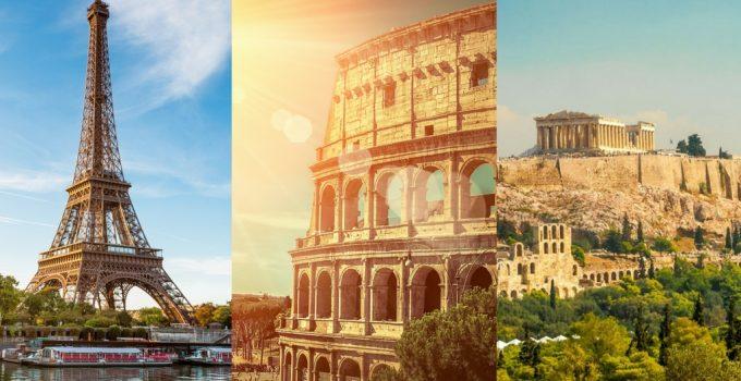 Imagen de la oferta Visitamos a PARIS + ROMA + ATENAS por solo 132€ en un viaje