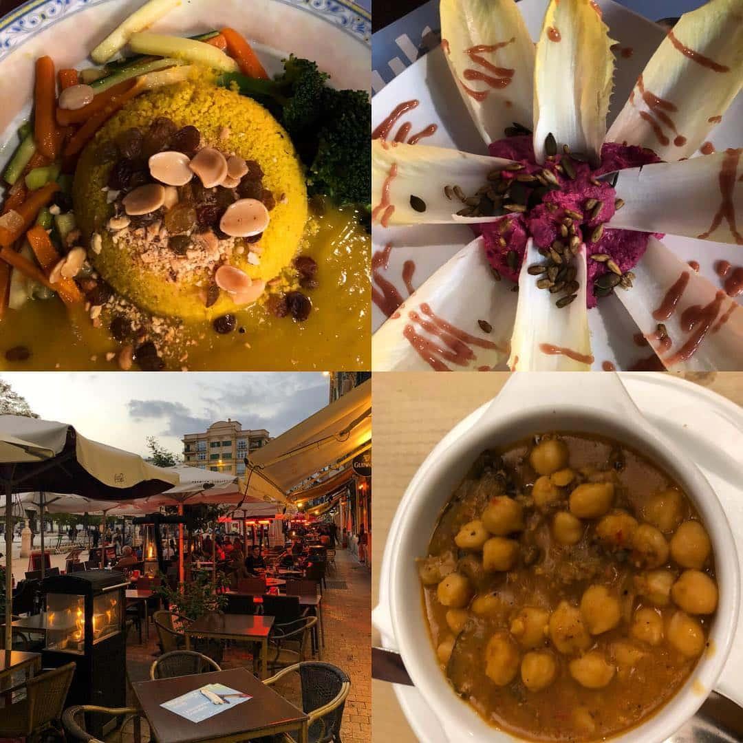 Cuatro platos diferentes del Cañadú