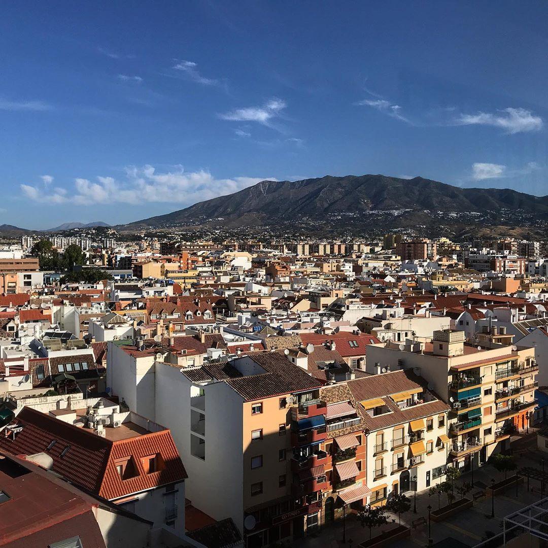 Vista aérea de las calles de Fuengirola