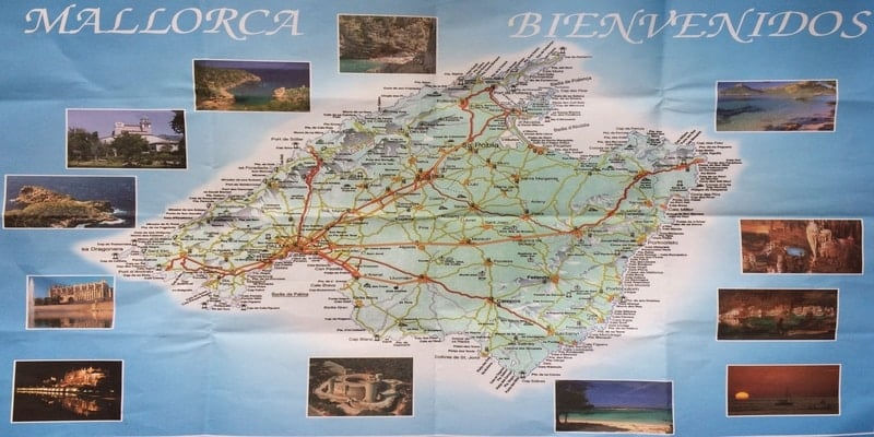 mapa mallorca foto isla en españa