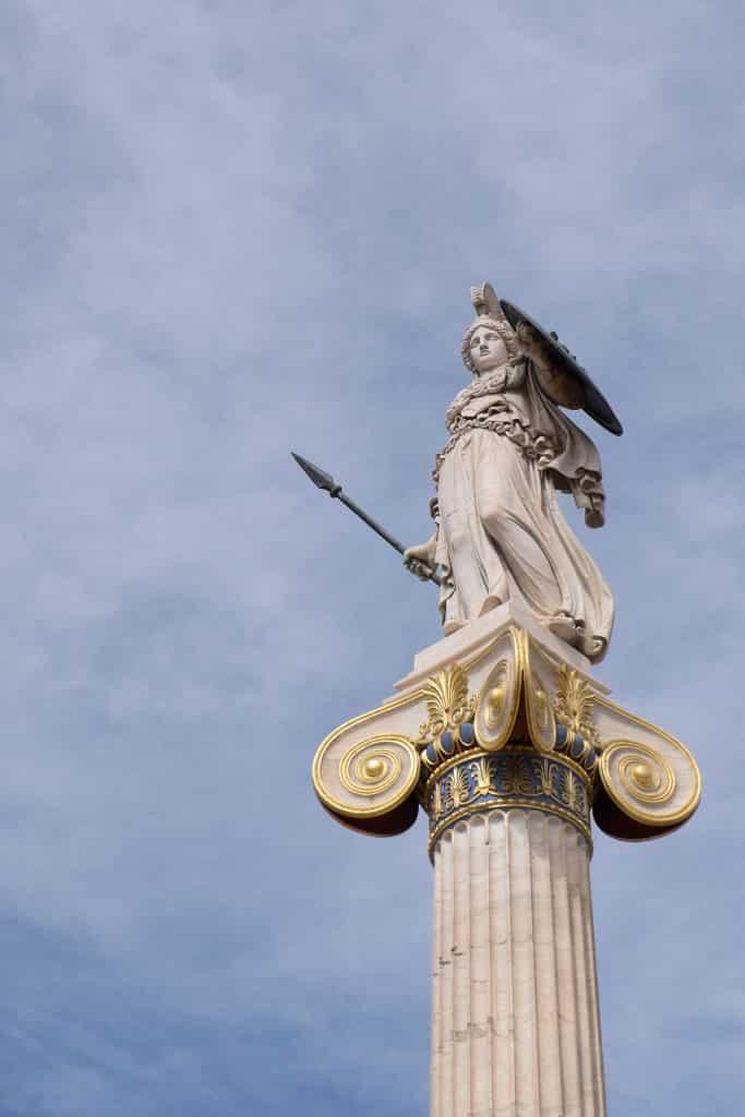 Atenea está presente en muchos lugares de la ciudad